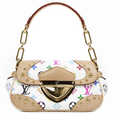 Louis  Vuitton White Multicolor Marilyn Bag