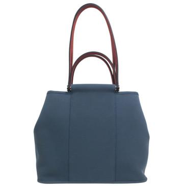 Hermès Blue Toile Cabag 32