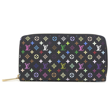Louis Vuitton Black Multicolor Zippy Wallet