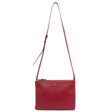 Celine Red Lambskin Large Trio Crossbody