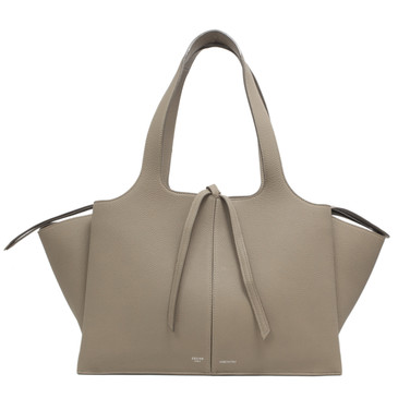 Celine Beige Grained Calfskin Medium Trifold Bag
