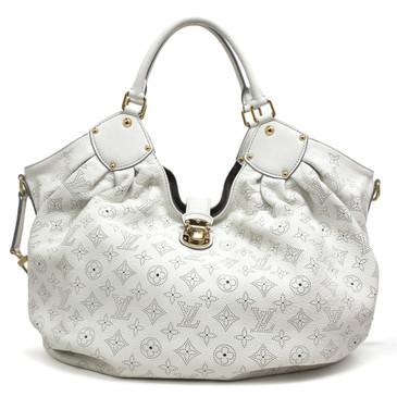 Louis Vuitton White Monogram Mahina XL