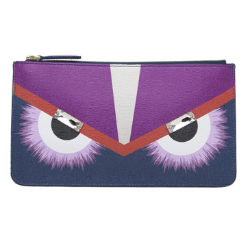 Fendi Monster Zip Pouch