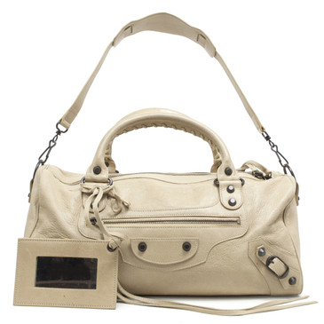 Balenciaga Beige Lambskin  Twiggy Bag