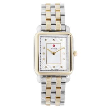 Michele Deco II Two Tone Diamond Watch