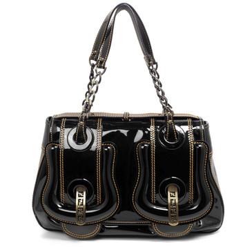 Fendi Black Patent B Bag