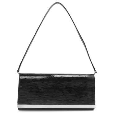 Louis Vuitton Black Electric Epi Sevigne  Clutch