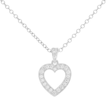 Tiffany & Co. Platinum & Diamond Open Heart Necklace