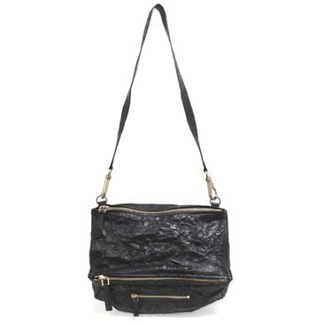 Givenchy  Black Tumbled Sheepskin Medium Pandora Bag
