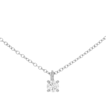Tiffany & Co. Platinum Solitaire Diamond Pendant