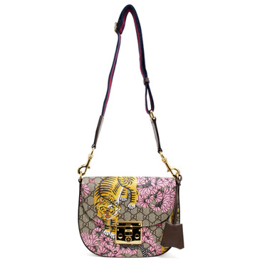 Gucci GG Supreme Monogram Bengal Print Padlock Shoulder Bag