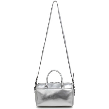 Saint Laurent Silver Calfskin Classic Baby Duffle Bag