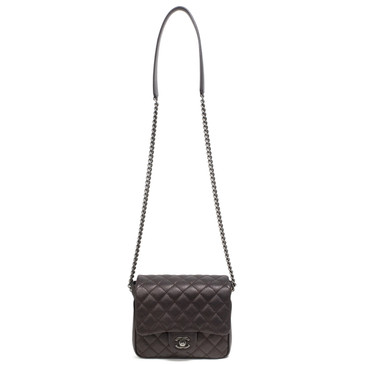 Chanel Metallic Goatskin Quilted Small Rock in Rome Flap Bag