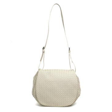 Bottega Veneta Ivory Intrecciato Nappa Messenger Bag