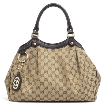 Gucci Monogram Canvas Medium  Sukey  Tote