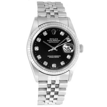 Rolex Stainless Steel & Diamond Datejust 16234