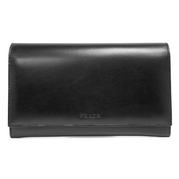 Prada Black Vitello Wallet