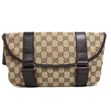 Gucci  Monogram Canvas Belt Bag