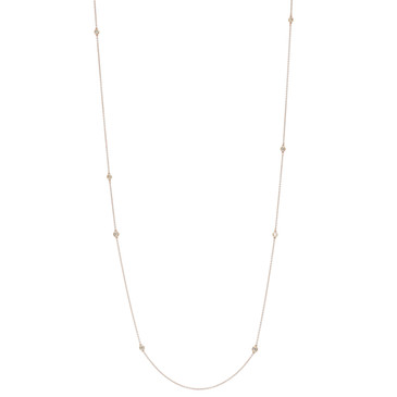 Tiffany & Co. 18K Rose Gold Diamonds by the Yard Sprinkle Necklace