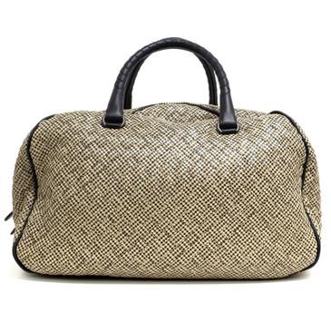 Bottega Veneta Houndstooth Intrecciato Bowler Bag