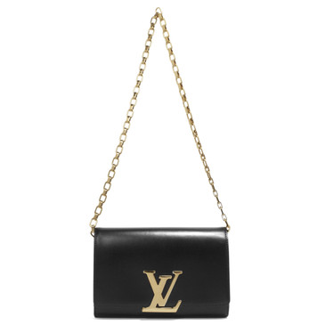 Louis Vuitton Noir Smooth Calfskin Chain Louise GM