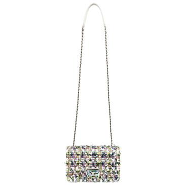 Chanel Tweed & Lambskin Beauty Lock Flap