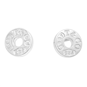 Tiffany & Co. Sterling Silver 1837 Circle Earrings