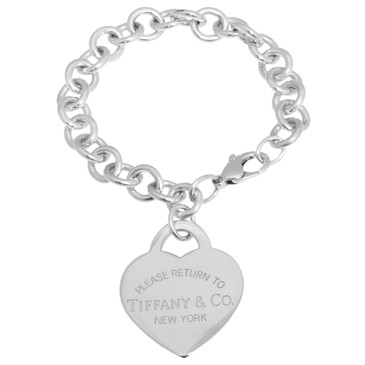 Tiffany & Co. Sterling Silver Large Heart Tag Bracelet