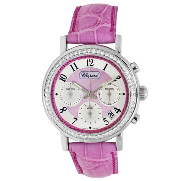 Chopard Mille Miglia Elton John Diamonds & Pink Mother of Pearl Ladies Watch 178331