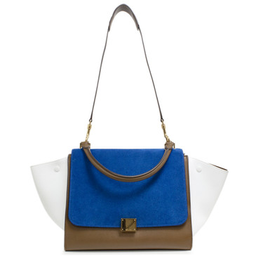 Celine Tricolor Leather & Suede Medium Trapeze