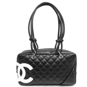 Chanel Black Calfskin Cambon Ligne  Bowler Bag