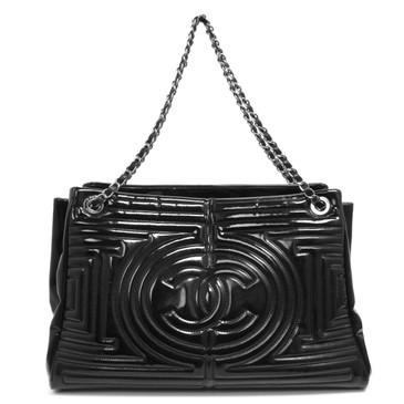 Chanel Black Vinyl Coco Ming Tote