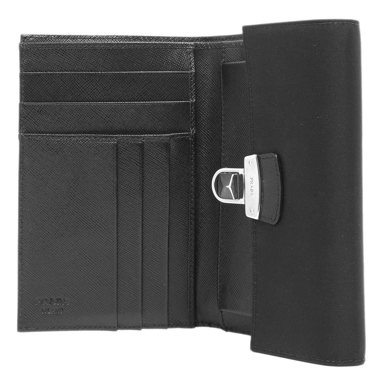 db5aff23c5d6 Prada Nero Tessuto Flap Wallet - modaselle