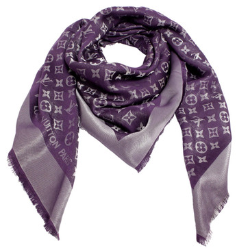 Louis Vuitton Purple Monogram Shine Shawl