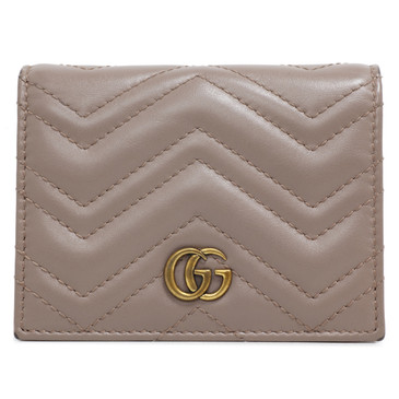 Gucci Taupe GG Marmont Card Case