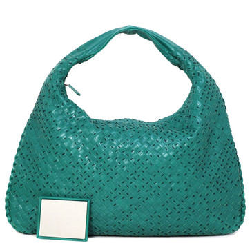 Bottega Veneta Teal Intrecciato Medium Veneta Hobo