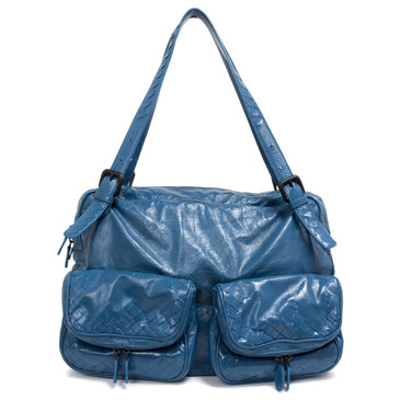 Bottega Veneta Blue Scarabee Multi Pocket Tote