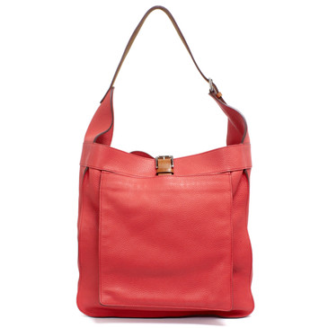 Hermes Bougainvillea Clemence Leather Marwari GM Bag