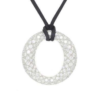 Tiffany & Co Sevillana Platinum 144 Diamond Pendant