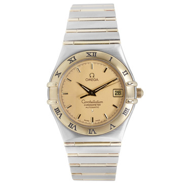 Omega Stainless Steel & 18K Automatic Constellation 35.5mm Watch