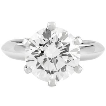 Tiffany & Co. Platinum 3.18 Carat Diamond Solitaire Ring