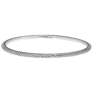David Yurman Sterling Silver Cable Classic Bangle