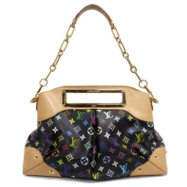 Louis Vuitton Black Multicolor Judy GM