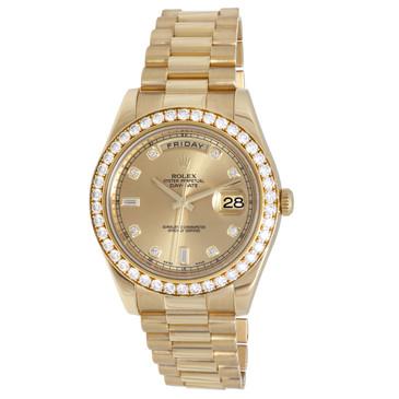 Rolex 18K Yellow Gold & Diamond Day-Date II President 218348