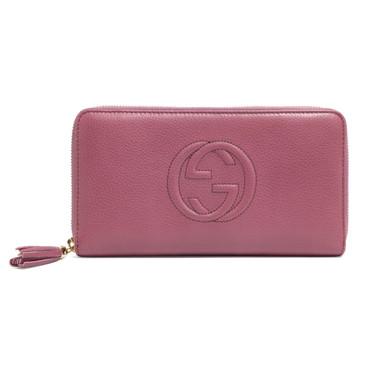 Gucci Rose Soho Zip Around Wallet
