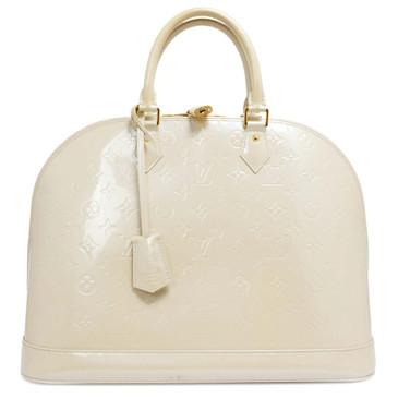 Louis  Vuitton Blanc Corail Vernis Alma GM