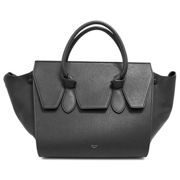 Celine Black Grained Calfskin Mini Tie Tote