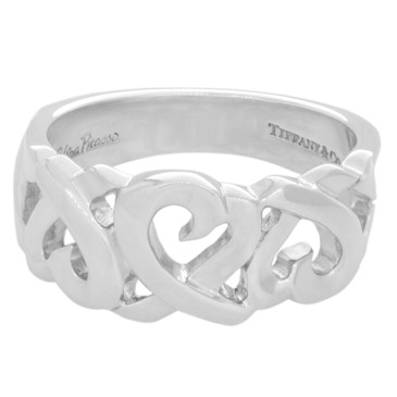 Tiffany & Co. Sterling Silver Loving Heart Ring