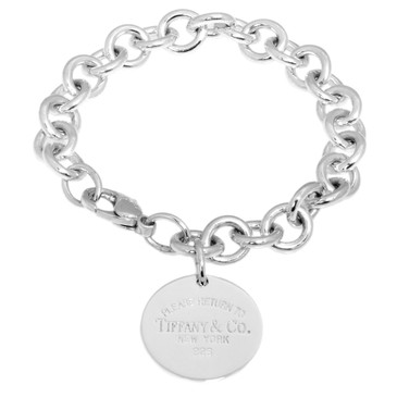 Tiffany & Co. Sterling Silver Round  Tag  Bracelet