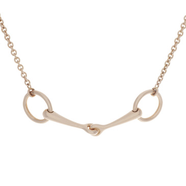 Hermes 18K Rose Gold & Diamond Filet d'Or Necklace